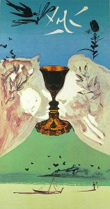 Ace of Cups tarot card by Salvador Dalí