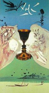 Ace of Cups tarot card by Salvador Dalí